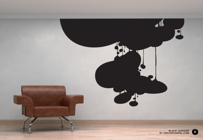 vinyl art wall print black leakage designchapel robert lindstrm