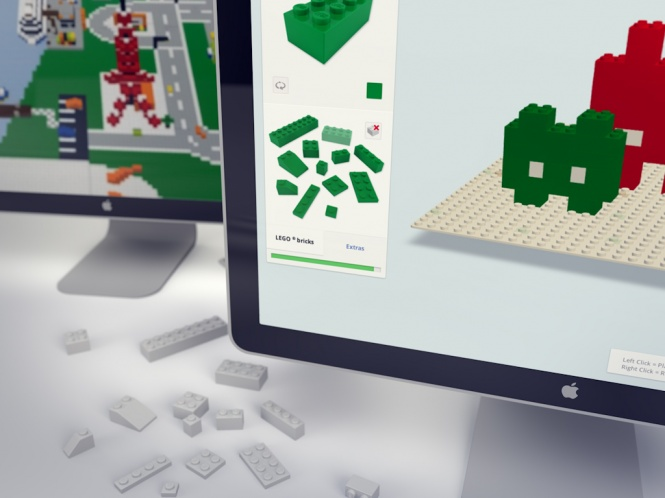 LEGO GOOGLE CHROME REALTIME3D WEBGL DESIGN BUILDER